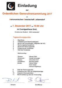 Generalversammlung @ GH Greil | Leitzersdorf | Niederösterreich | Österreich